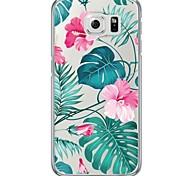 Für Samsung Galaxy S7 Edge Ultra dünn / Durchscheinend Hülle Rückseitenabdeckung Hülle Blume Weich TPU SamsungS7 edge / S7 / S6 edge plus