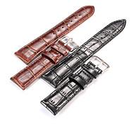 Women/Men 's Alligator Grain Genuine Leather Watch Strap 20mm 22mm Watch Band Accessories