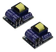 Недорогие -AC 55v277v / DC 70v390v до 5 В постоянного тока модуля понижающего (2 шт)