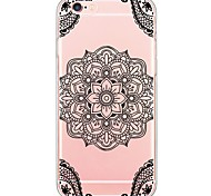 Black Mandala Pattern TPU Ultra-thin Translucent Soft Back Cover for Apple iPhone 6s Plus/6 Plus/ 6s/6/ SE/5s/5
