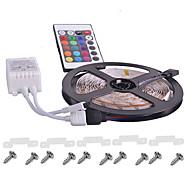 Недорогие -KWB водонепроницаемый гибкие RGB светодиодные полосы света с пультом дистанционного управления 12v водить SMD3528 16 цветов изменчива
