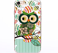 TPU  IMD Material Green Owl Pattern Powder Phone Case for iPhone 7 Plus/7/6s Plus / 6 Plus/6S/6/SE / 5s/5/5C