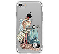 A Girl riding A Motorcycle TPU Case For Iphone 7 7plus 6s/6  6plus/6s plus