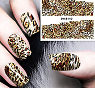 Fashion Printing Pattern Water Transfer Printing Leopard Print Nail Stickers