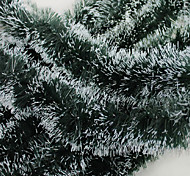 Недорогие -рождественские подарки украшение зеленый белый лента Гирлянда вершины марены елочные украшения