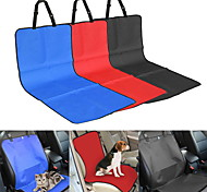 Cat Dog Car Seat Cover Pet Blankets Solid Plaid/Check Waterproof Foldable Black Beige Gray Red Blue For Pets