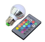 cheap -E26/E27 LED Smart Bulbs G95 1 High Power LED 240lm RGB K Dimmable Remote-Controlled AC 85-265V