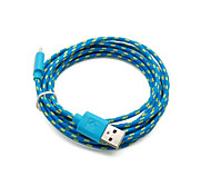 cheap -2 Pakcs 2M 6ft Micro USB Charging and Data Sync Cord Cable Fabric Braided Woven for Samsung HTC Android Devices