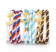 Beadia 1Pc Multilayer Warp Rope Cord Bracelet Anchor & Hook Bracelet