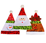 3PCS/lot Christmas Hats Caps High Quality Gorro Soft Plush Adult Children Snowman Santa Claus Deer Cap Christmas Hat