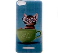 Для wiko lenny3 lenny2 phone case cover котенок узор окрашенный материал tpu для wiko u feel u feel lite sunny jerry