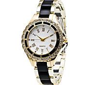 Women's Fashion Strap Watch Quartz Casual Watch Diamond Alloy Belt Business Round Alloy Dial Watch Cool Watch Unique Watch