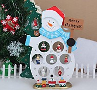 XMAS Gift Table Decoration Wood Christmas Snowman With Ornament For X'mas Christmas Snowman Furnishing Articles