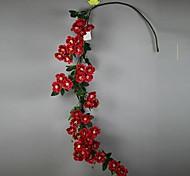Set of 1 PCS 1 Филиал Полиэстер Розы Букеты на стол Искусственные Цветы Long 54(inch)