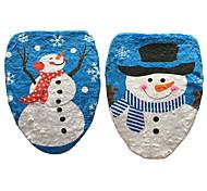 1шт снеговика крышка унитаза штамп туалет крышка Рождественский орнамент (стиль случайный)