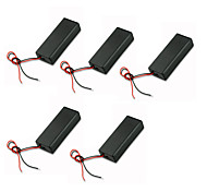 5PCS AAA Two-Section With Cover With Red And Black Battery Compartment With Battery Switch