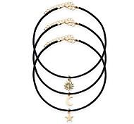 Недорогие -Ожерелье Без камня Ожерелья-бархатки Татуировка Choker Бижутерия Свадьба Для вечеринок Повседневные Тату-дизайн Мода Сплав Резина 1шт