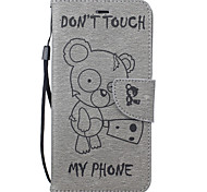 For iPhone 7 Case / iPhone 6 Case / iPhone 5 Case Wallet / Card Holder / with Stand / Embossed / Pattern Case Full Body Case Cartoon Hard