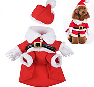 Dog Costume Dog Clothes Cotton Winter Spring/Fall Cute Cosplay Christmas Cartoon Red Costume For Pets