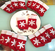 12 Pieces/Set Mini Christmas Stockings Christmas Decoration Supplies Decorations Festival Party Ornament