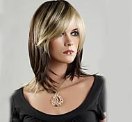 жен. Парики из искусственных волос Без шапочки-основы Средний Прямые Блондинка Стрижка боб Парик из натуральных волос Парик для Хэллоуина