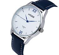cheap -Men's Quartz Casual Fashion Watch Leather Belt Classic Business Round Alloy Dial Watch Cool Watch Unique Watch