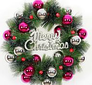 Недорогие -Рождественский венок 3 цвета хвои рождественские украшения для домашнего диаметра партия 36см NAVIDAD новые поставки год