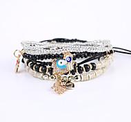 cheap -Strand Bracelet / Bracelet - Resin European, Fashion, Cute Bracelet Black / Pink / Light Blue For Christmas Gifts / Wedding / Business