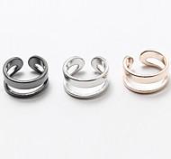 Муж. Женский Классические кольца Бижутерия Простой стиль Регулируется Медь Серебрянное покрытие Позолота Бижутерия Назначение Свадьба Для