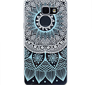 for Samsung Galaxy A310 A510 Blue Lace Pattern TPU High Purity Translucent Openwork Soft Phone Case