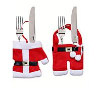 Рождественский стол украшения нож и вилка мешок рождественские набор столовых приборов маленькие одежды Weihnachten Dekoration подарки