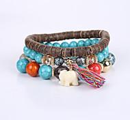 Men's Women's Strand Bracelet Bracelet Fashion Cute Style Acrylic Resin Turquoise Animal Shape Elephant Jewelry For Anniversary Business
