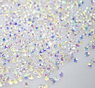 120PCS Shine Flatback/Octagonal Shape Nail Art Decorations Glitter Rhinestone 3D Clear Crystal SS3 AB Diamond