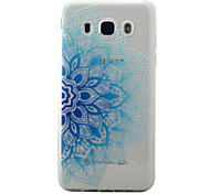 For Samsung Galaxy J5 J3 (2016) Case Cover Blue Half Flowers Pattern Painted TPU Material Phone Case