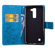 Для Кошелек / Бумажник для карт / со стендом / С функцией автовывода из режима сна / Рельефный / С узором / Магнитный Кейс для ЧехолКейс
