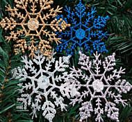 4шт рождественские украшения рождества снежинка порошок 10 * 6.5cm цвет случайным