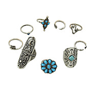 cheap -Women's Band Ring Acrylic Silver Alloy Daily Casual Costume Jewelry