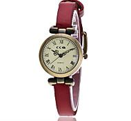 Women's Bracelet Watch Fashion Watch Quartz PU Band Vintage Casual Black White Blue Red Orange Brown Green