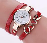 Women's Fashion Watch Wrist watch Bracelet Watch Quartz Colorful PU Band Vintage Heart shape Candy color Bohemian Charm Bangle Cool Casual