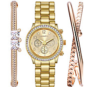 Watch Women Fashion Titanium Steel Gold Bracelet Watch Set Rhinestone Quartz Watch  Clock Relogio Feminino Montres Femme