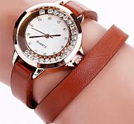 Mulheres Relógio Elegante Relógio de Moda Bracele Relógio Relógios Femininos com Cristais Relógio de Pulso Quartzo Punk Colorido imitação