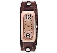cheap -Women's Wrist watch Dress Watch Fashion Watch Sport Watch Casual Watch Quartz Punk Leather Band Charm Vintage Casual Cool Black White