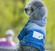 Собаки Толстовки Джинсовые куртки Одежда для собак ковбой Мода Джинсы Синий