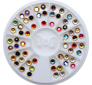 1PC  Japanese Metal Package Edge Color Acrylic Drilling 4 mm 60 Mixed Color Drill in a Box