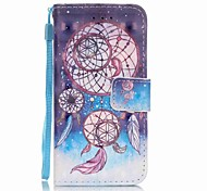 Three-ring Wind Chimes 3D Painting PU Phone Case for apple iTouch 5 6