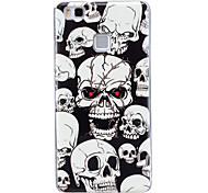 For Case Cover Glow in the Dark IMD Pattern Back Cover Case Skull Soft TPU for Huawei Huawei P9 Lite Huawei P8 Lite