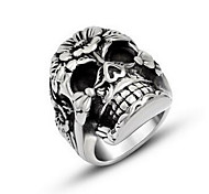 Men's Ring Personalized Titanium Steel Skull Jewelry For Halloween Daily Casual