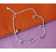 Women's Anklet/Bracelet Silver Plated Imitation Diamond Fashion Jewelry For Wedding Party Daily