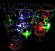 Color Flashing Small Goblet with LED Flash Light 1pc,Holiday and Party Decorations