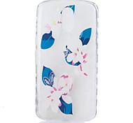 Недорогие -Кейс для Назначение Motorola С узором Кейс на заднюю панель Цветы Мягкий ТПУ для Мото G4 Plus MOTO G4